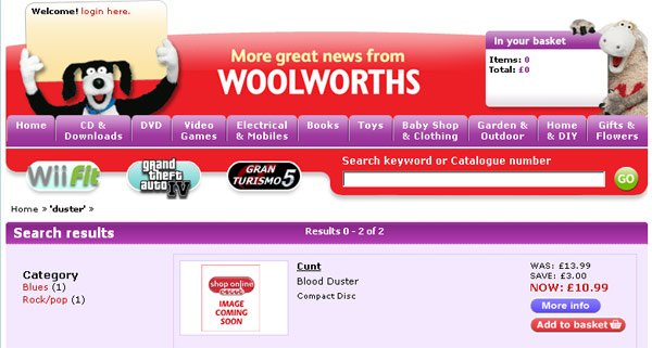 Woolworths search result fo