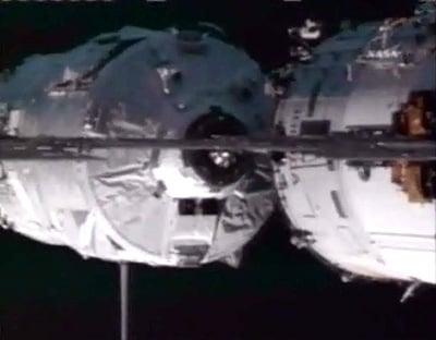 The Jules Verne ATV docked with the ISS. Pic: ESA