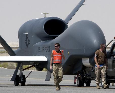 The Global Hawk with fleshy slaves