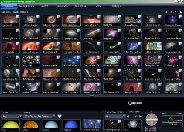 A menu of Hubble images