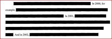 Redacted chunk of the filing