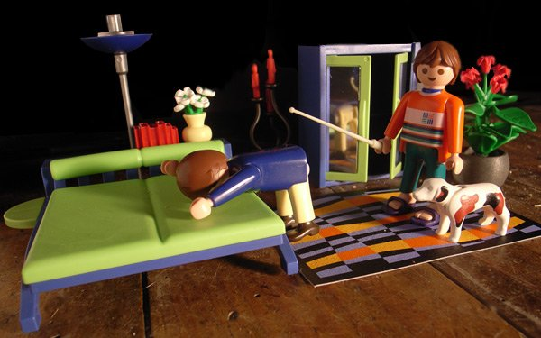Playmobil reconstruction of the Moderatrix