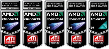 AMD Game! and Game! Ultra stickers