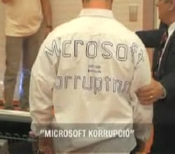 Microsoft egg protester, video: index