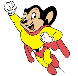 Mighty Mouse as created by the Terrytoons studio