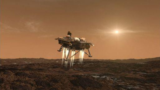 Artist's impression of Phoenix landing. Pic: NASA/JPL-Caltech/University of Arizona