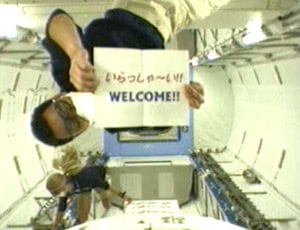 Japan's Akihiko Hoshide in th Kibo module. Pic: NASA