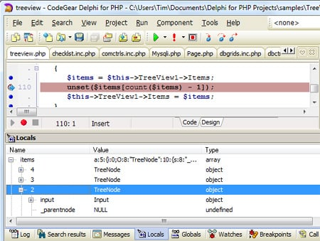 Debugging in Delphi for PHP 2.0