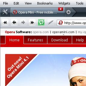 Opera 9.5's new glossy skin
