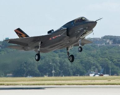 The F-35B on its first flight