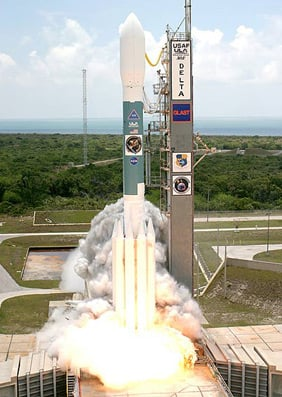 GLAST launches from Cape Canaveral. Pic: NASA