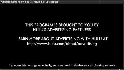 Hulu AdBlock Attack