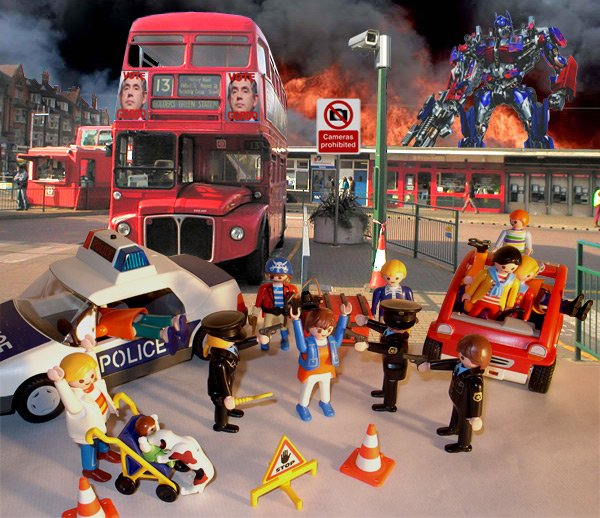 Our artist's impression of how the bus-spotting terrorist bust may have looked