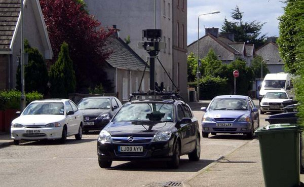 The Street View spycar spied in Inverness