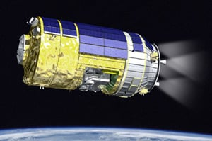 Artist's impression of JAXA's HTV in orbit. Pic: JAXA