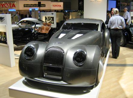 The Morgan LifeCar concept at the British Motor Show