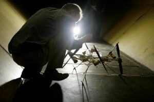 The Manchester Uni 'HexRotor' tumblecopter - without spherical cage