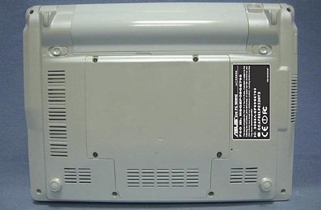 Asus Eee 900HD backplate