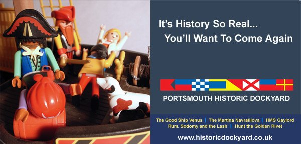 Our artist's impression of the rejected Portsmouth Historic Dockyard poster