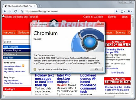 Chrome built in Visual Studio 2005