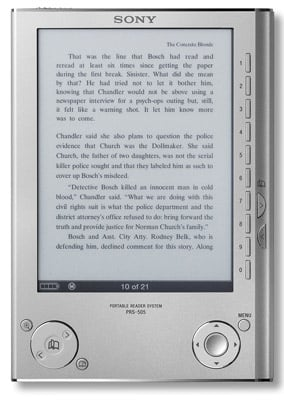 Sony PRS-505 Reader electronic book
