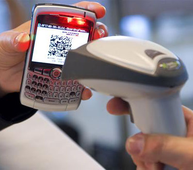 Sending bar codes to a cell phone is relatively common in Japan,
