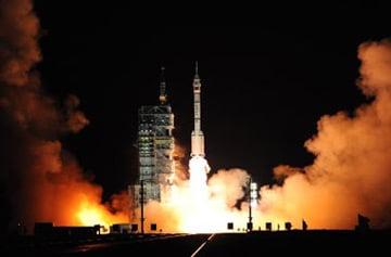 The Shenzou VII launch. Pic: Xinhua