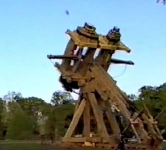 The mighty replica war machine in action
