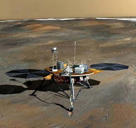 NASA Phoenix Lander probe on Martian surface