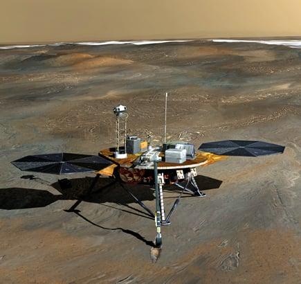 NASA Phoenix Lander probe on Martian surface