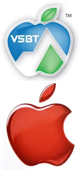 The Apple and Victoria School of Business and Technology logos