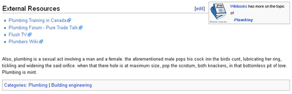 Wikipedia's entry on plumbing, or rather the sexual version