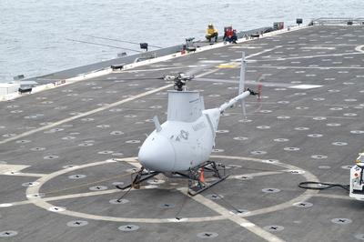 The Fire Scout robo-chopper in sea trials