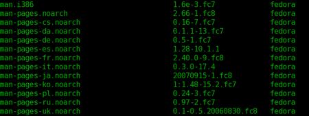 Linux man listing