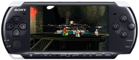 PSP-3000 with Lego Batman