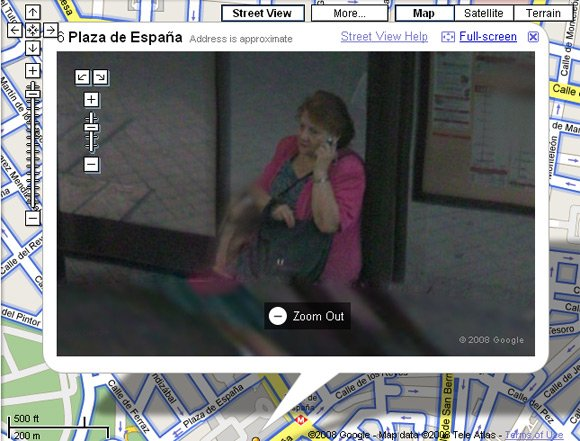 Woman unblurred on Google's Street View