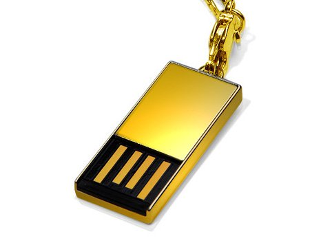 Super Talent's solid gold Pico-C 8GB USB thumb drive