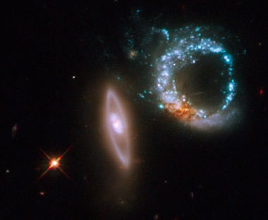 Hubble image of Arp 147. Pic: NASA