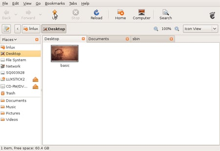 Ubuntu Gnome Tabbed Browser (small)