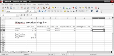 OpenOffice Spreadsheet