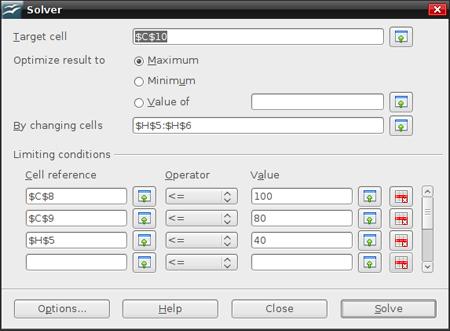 OpenOffice Solver