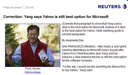 Reuters on Yang