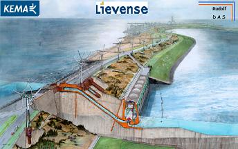 Concept cutaway of the energy island's outer dyke