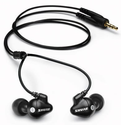 Shure SE102 sound isolating headphones