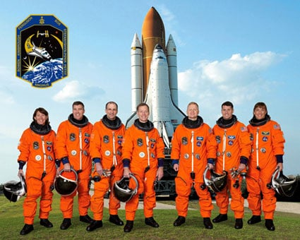 The Endeavour STS-126 crew. Pic: NASA
