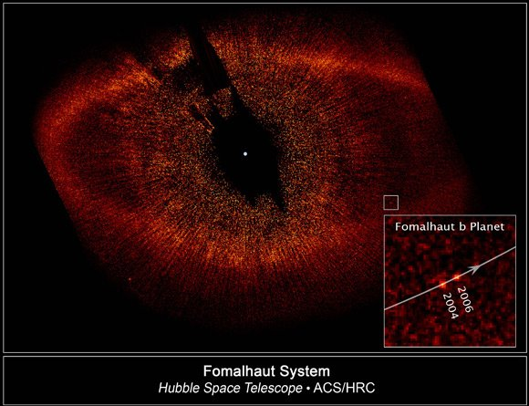 The Fomalhaut system, as seen by Hubble. Pic: NASA