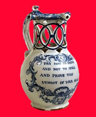 V & A museum puzzle jug