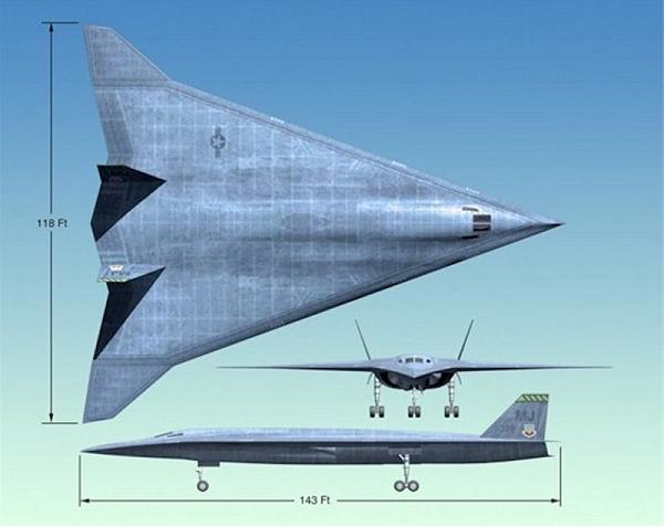 A concept for a B-3 bomber, successor to the B-2