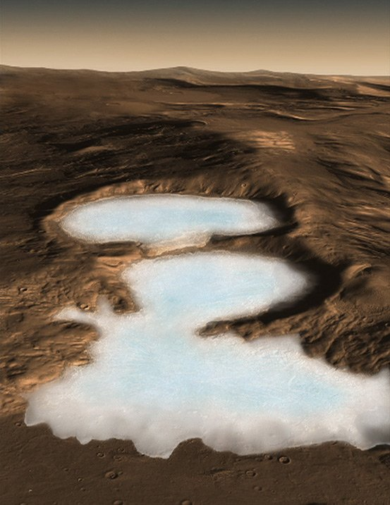 Artist's impression of Martian glaciers. Image: NASA