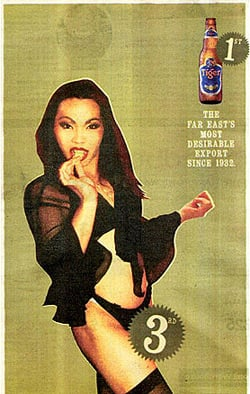 The offending Tiger Beer ladyboy ad